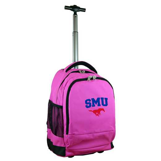 CLSML780-PK: NCAA Southern Methodist Mustangs Wheeled Premium Backpack